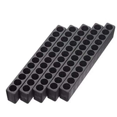 BAAQII 5 Kunststoff-Schraubendreherkopf-Aufbewahrung 12 Bohrungen mit Sechskantschaft-Schraubendreher-Bithalter