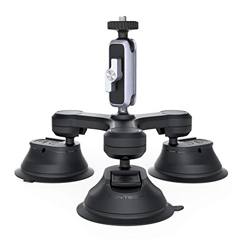 PGYTECH Triple Cup Kamera Saugnapfhalterung, Stativ Saugnapf für Gopro/DJI OSMO Pocket 2/OSMO Pocket/OSMO Action