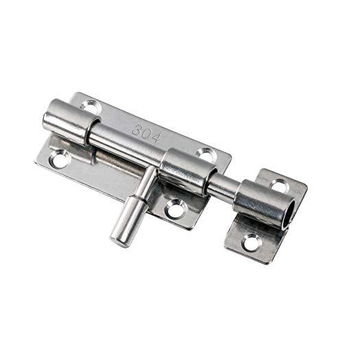 Zeltauto Barrel Bolt Door Latch Slide Lock with Screws 304 Stainless Steel (3 inch (Pack of 1))