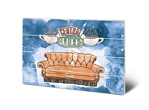 Friends SW12768P - Impresión sobre Madera, 40 x 59 cm, Color Blanco (Central Perk Sofa), Multicolor, 40 x 59 x 1, 3 cm