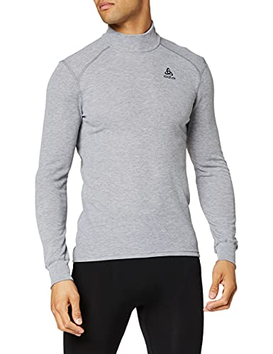 Odlo - Camiseta Interior Térmica De Acampada Y Senderismo Para Hombre, Tamaño XXL, Color Gris