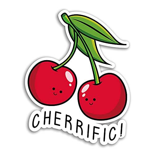 2 pegatinas de vinilo de cerezo de Cherrifc de 10 cm de alto, divertidas, pegatinas de broma de frutas divertidas, #29954