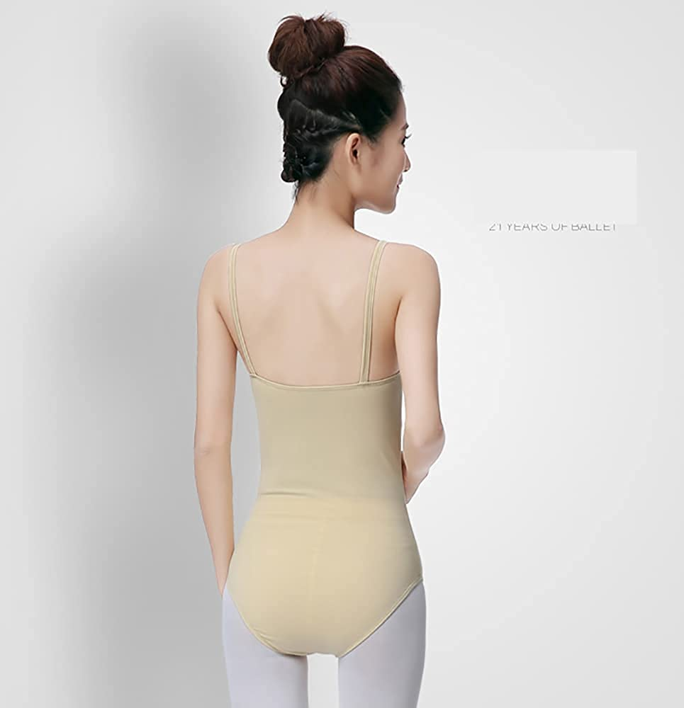 Whitewed Women's Adult Ballet Dance Underwear Nude Camisole Leotards Bodysuit