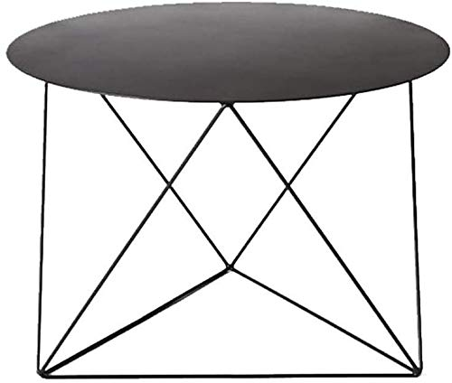 LQ Side End Table nordique Métal Café Snack Chevet Art Déco Meubles Tables Salle fin Triangle Support Design robuste Table d'appoint à long service Fer vie tables basses (Color : Black)