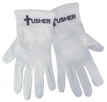 Swanson Christian Supply 150425 Gloves Usher With Cross White Cotton Med