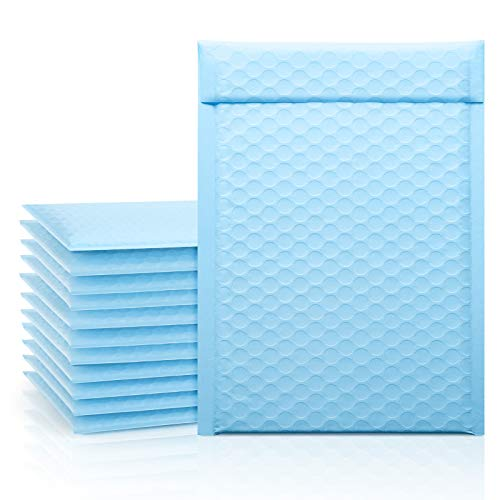 Fuxury Poly Bubble Mailer 6x10 Light Blue, 25 Pack Small Padded Packaging Bags, Bulk Envelope for Mailing & Shipping, Self-Seal Shipping Bags, Packaging for Small Business, Boutique