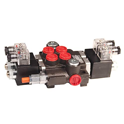 Chief 12 Volt 4 Way 3 Position Solenoid Operated Directional Control Valves: 2 Spool, 13 GPM, 3625 Max PSI with SAE 10 Inlet/Outlet Ports and SAE 8 Work Ports, 220876