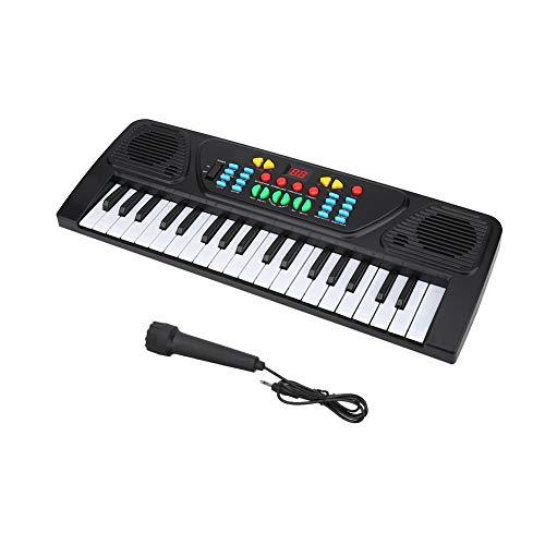 Alomejor Teclado electrónico, 37 Teclas Piano Keyboard Piano Teclado estandar Instrumento Musical para Principiantes y niños