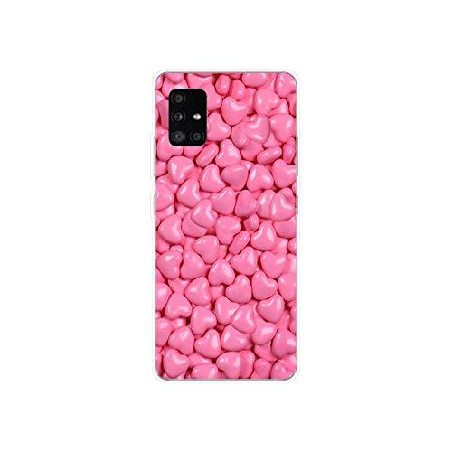 44 Leopard Print Dot Funda de silicona suave TPU para Samsung Galaxy A31 A41 A51 A71 A40 2019 Case-31-For Sansung A31