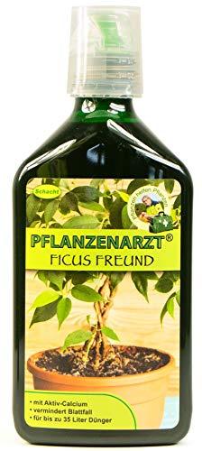 PFLANZENARZT® Ficus Freund Konzentrat, Organisch-mineralischer NPK-Flüssigdünger für Ficusse mit Calcium, 350ml