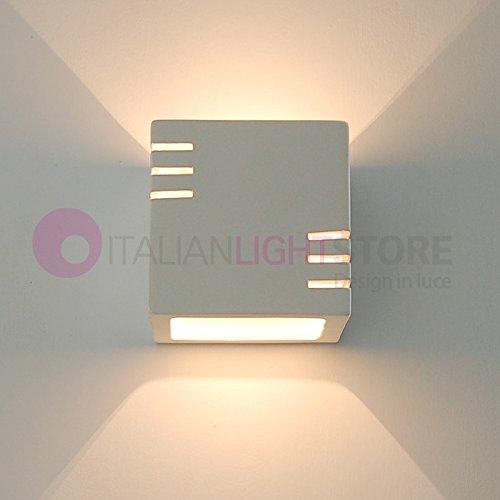 DADO Mini Applique Lampada A Parete Cubetto In Gesso Ceramica Colorabile - Illuminazione Interni