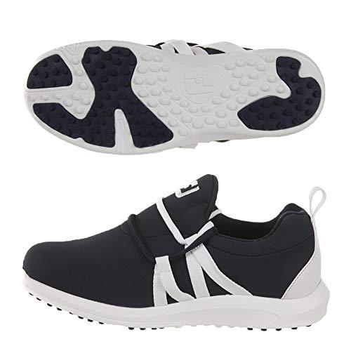 FootJoy Women's Leisure Slip-On Golf Shoes Blue 8 M, Navy/White, US