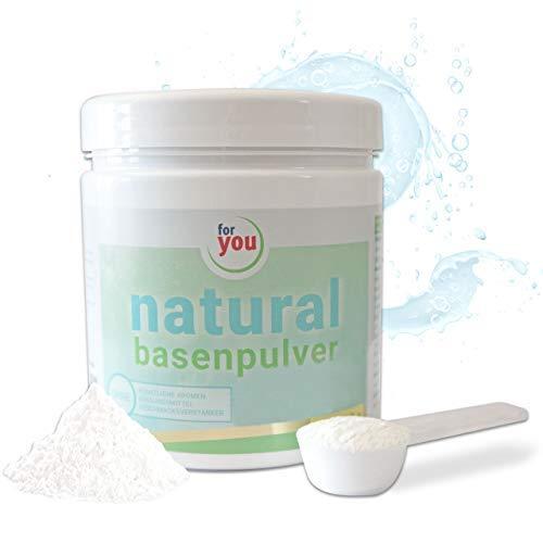 for you natural Basenpulver I Basen Pulver gegen Übersäuerung I 360g - 60 Portionen Basen Citrat Getränkepulver I Nahrungsergänzung I Basen Citrate Pulver I Basenprodukte