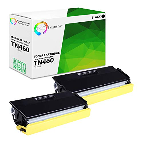 TCT Premium Compatible Toner Cartridge Replacement for Brother TN-460 TN460 Black High Yield Works with Brother DCP-1200 1400, HL-1230 1240 1250 1270N, MFC-8300 Printers (6,000 Pages) - 2 Pack