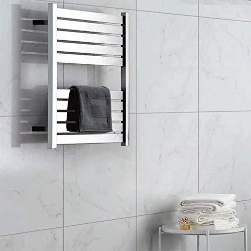 LHQ-QG Montage mural électrique Chauffe-serviette et Câblé Branchez Options, en acier inoxydable - sèche-serviettes blanc poli