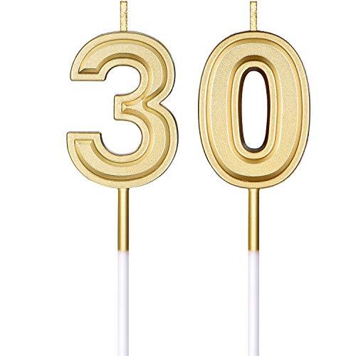 Frienda Geburtstag Kerzen Kuchen Nummer Kerzen Alles Gute zum Geburtstag Kuchen Kerzen Topper Dekoration für Kinder Erwachsene und Alte Menschen Geburtstag Hochzeitstag Feier Lieferung (Nummer 30)