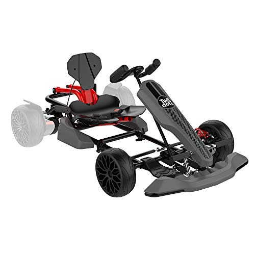 TWO DOTS GoKart Kit, Ride On Toys for Kids and Adults, Hoverboard Seat Attachment - Compatible with All Hover Boards Like 4.5' 6.5' 8.5' hoverboards, (only Go-Kart), Grey
