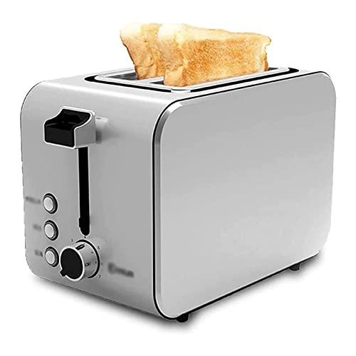 ELXSZJ XTZJ 2 tostadora de la Rebanada actualizada, tostadora de Acero Inoxidable, Panecillo/descongelamiento/recalentamiento/función de cancelación
