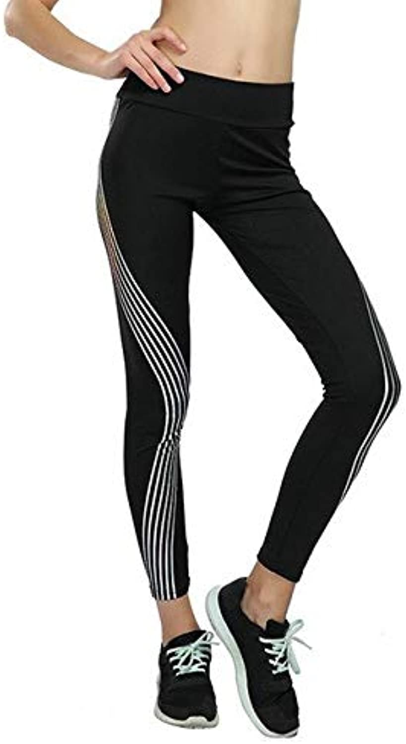 Greenvie Female Yoga Leggings High Waist Running Leggings Tights Jogging Gym Fitness Jegging Joggers Compression a Pants as Photo, M