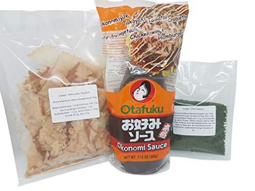 Okonomi Sauce Soße, Katsuobushi 100% Bonito Flocken Katsu Bonitoflakes, Aonori ko, Okonomiyaki, Takkoyaki, Hiyakko Zutaten, Grundzutaten Rezept, Rezeptvorschlag