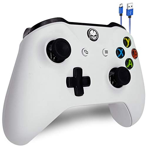 Wireless Controller for Original Xbox One, Xbox One S, Xbox One X & PC, Dual Motors & 3.5mm Audio Jack Supported (W)