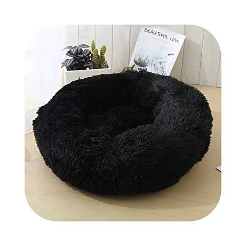 #N/D Camas largas de felpa para perros calmantes, para mascotas, supersuaves, mullidas, cómodas, para perros y gatos grandes, color negro, XXL, 100 cm