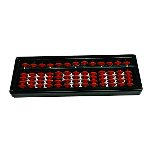 MAYUMI 13 Digit Abacus Kit for Mathematical Calculations/ Enhance Counting Skill (Black & Red, Set of 1)