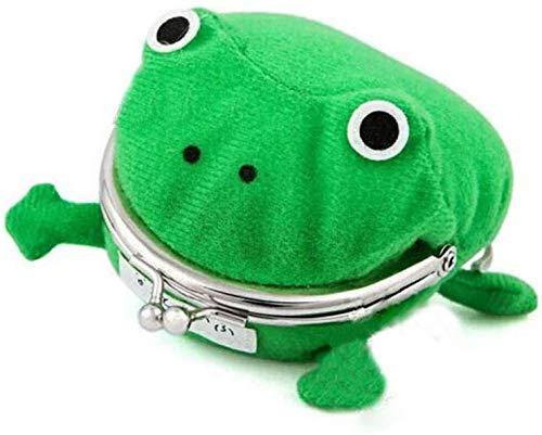 Carolilly Geldbörse Frosch Naruto Portemonnaie mit niedlichem Futter, für Kinder, Unisex, Geldbörse, kreativ, nicht teuer (Grün, Einheitsgröße)