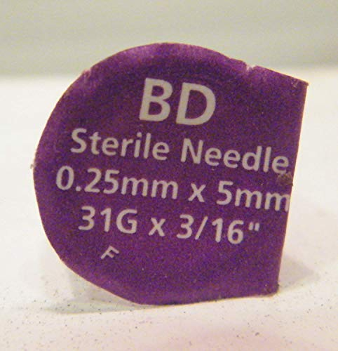 "30 BD Mini Pen Needles .25mm x 5mm, 31g x 3/16"" for Flex Pens Kansas"