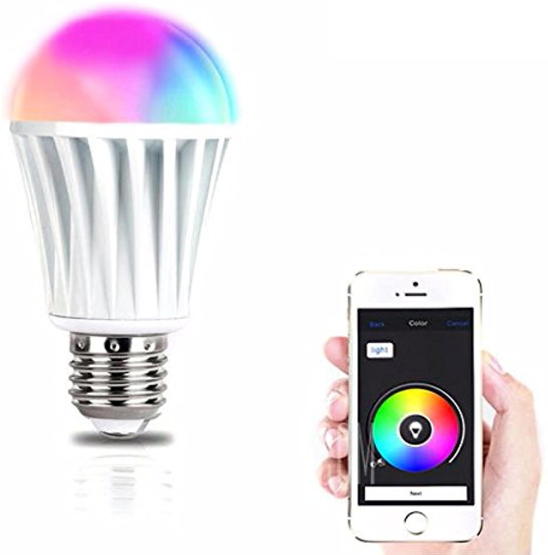 JINHUGU Magic Home E27 7 Watt RGBW Wireless WiFi Timing Intelligente LED-Glühlampe für Smartphone-Steuerung AC220V LED-Licht