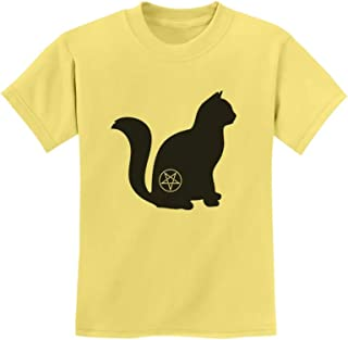 Tstars - Halloween Cat Pentagram Cat Lover Gift Youth Kids T-Shirt