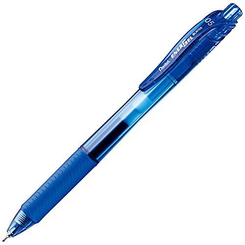ぺんてる ゲルインキボールペン エナージェルX BLN105-C 0.5青 10本