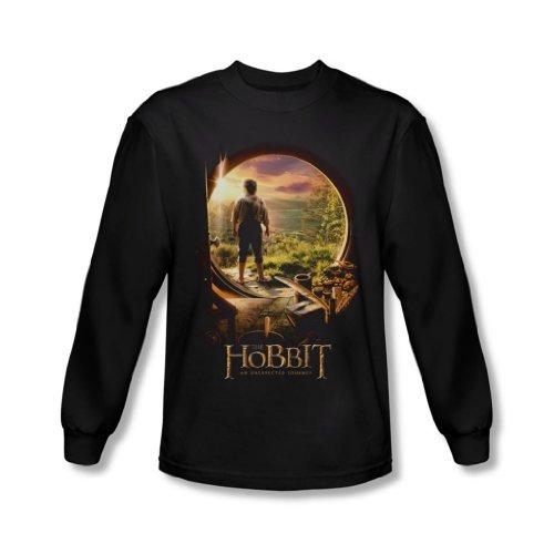 The Hobbit - Herren Hobbit In Tür Langarm-Shirt In Schwarz, XX-Large, Black