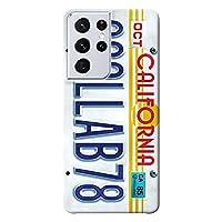 Galaxy S21 Ultra 5G ケース SC-52B ハードケース [薄型/耐熱/全面印刷] Numberplate (ホワイト) ギャラクシー スマホケース スリム CollaBorn Oilshock Designs (オイルショックデザインズ)