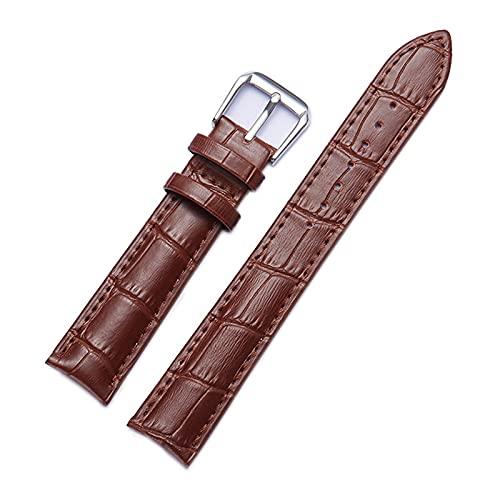 Piel de reemplazo de la correa de reloj de 12-22mm reloj de reemplazo de la correa para los hombres/mujeres, marrón, 18mm