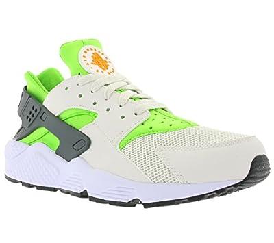 Nike Men's Air Huarache Actn Green/VVD Orng Phntm Wht Running Shoe 10.5 Men US