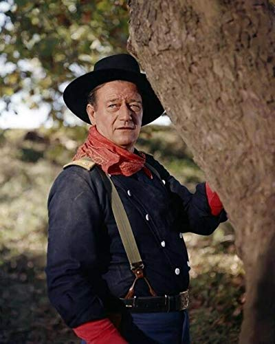 John Wayne wears Union Cavalry uniform and hat The Horse Soldiers 11X17 poster