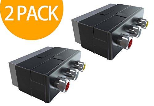 Act 2 Pack Scart Male to 3RCA Jack Female AV Adapter Converter for TV DVD VCR