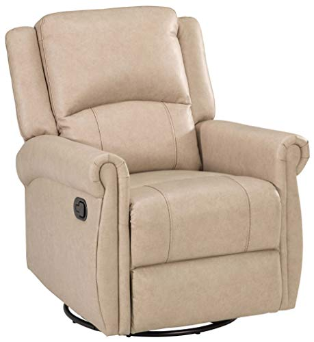 THOMAS PAYNE Swivel Glider Recliner - Grantland Doeskin