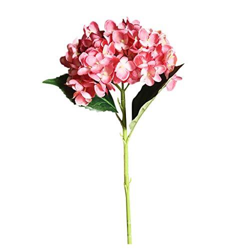 MerryWould Artificial Hydrangea Flower, 1 PCS Ramos de hortensias de Seda de Tallo Largo para Bodas, hogar, Hotel, decoración de Fiestas, centros de Mesa (H)