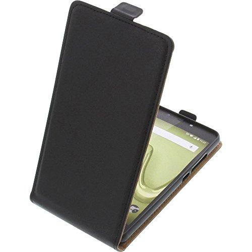 foto-kontor Tasche für Wiko Tommy 2 Plus Smartphone Flipstyle Schutz Hülle schwarz