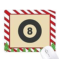 ビリヤードスポーツの単純な幾何学パターン ゴムクリスマスキャンディマウスパッド