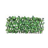 Valla ajustable retráctil artificial Enrejado del jardín Decoración Ampliación de la cerca de madera Paisaje de privacidad, Garland Artificial follaje