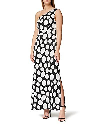 Marchio Amazon - TRUTH & FABLE Maxi Dress Senza Spalline Donna, Multicolore, 38, Label: XXS