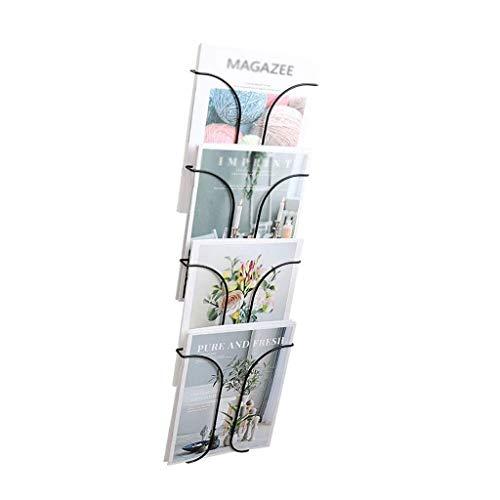 MHBGX Étagères, Porte-Fichiers, Porte-Journaux, Étagère Murale Étagère Présentoir Salon Décoration Murale Porte-Revues,Noir,22 * 72,5 Cm
