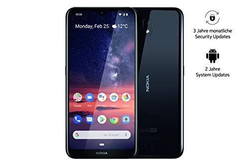 Nokia 3.2 Dual SIM Smartphone - Mercancía alemana (15,9 cm (6,26 pulgadas), cámara principal de 13 MP, 2 GB de RAM, 16 GB de memoria interna, Android 9 Pie) negro