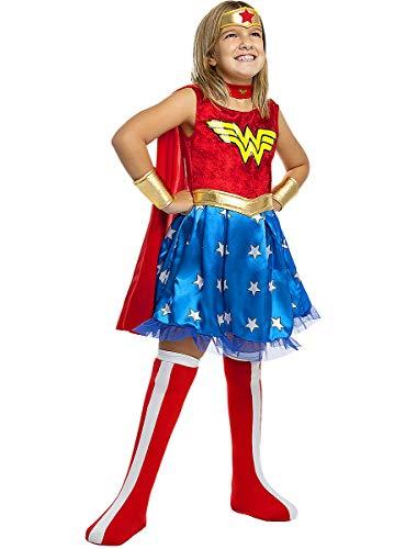 Funidelia | Costume Wonder Woman Ufficiale per Bambina Taglia 3-4 Anni ▶ Supereroi, DC Comics, Lega della Giustizia - Multicolore