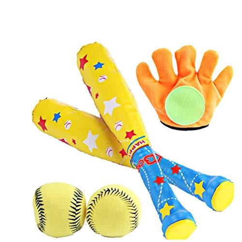1set Kreative Fitness-kugel-spielzeug Kinder-sport-spielzeug Mit Baseball-set Softball-stock Für Outdoor Indoor Sport Eltern-kind-spiele Buntes Ideal Geschenk Für Kinder