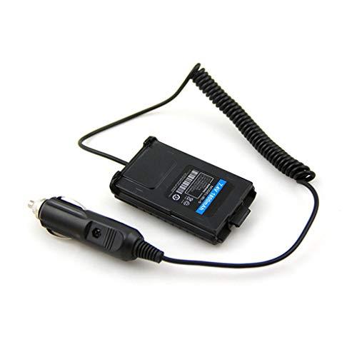Hotaluyt Sustitución del Cargador del Coche del vehículo eliminador de batería para el Adaptador Walkie Talkie Baofeng UV-UV5R UV5R 5RE Plus UV-5RA Plus Radio