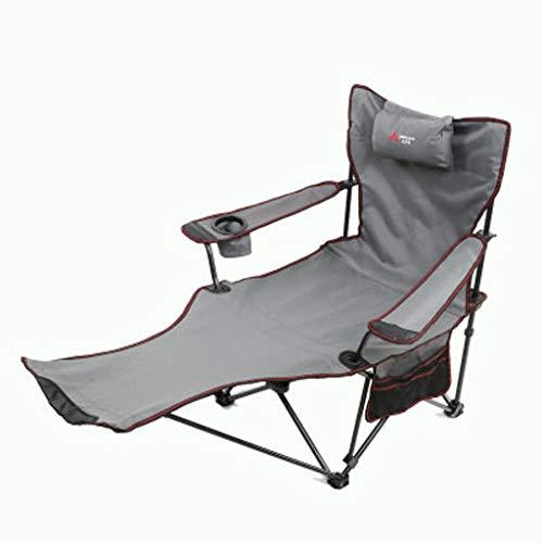 L@LILI Chaise Longue Pliante Chaise de Bureau à Usage Double Siesta Bed Outdoor Chaise de Plage Portable Chaise de pêche Randonnée Plage,b